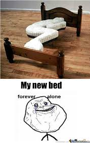 Forever Alone Girl Bed Sleep Memes. Best Collection of Funny ... via Relatably.com