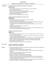 Wireless Systems Engineer Resume Samples Velvet Jobs
