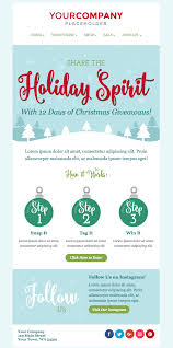 Dont Miss Out On The New Holiday Email Templates Sendinblue