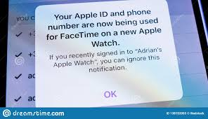 Apple Phone Number Apple Iphone Xs With Facetime On Apple Watch Editorial Stock