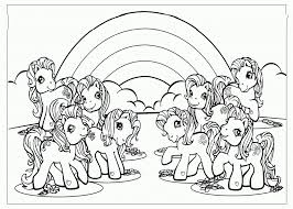 Small Picture Rainbow Unicorn Coloring Pages Print Rainbow Unicorn Coloring