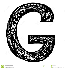 Lettera Maiuscola Elegante G Nello Stile Dello Scarabocchio