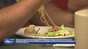 myrtle beach olive garden thanks first responders with free labor day lunch