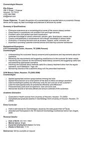 Cosmetologist Resume Resume Template Impressive For Cosmetologist Instructor Student 79