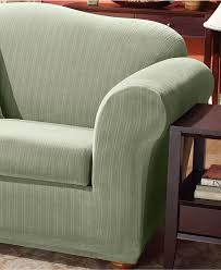 couch covers sofa and chair slipcovers macy s sure fit stretch pinstripe 2 piece t cushion slipcover collection