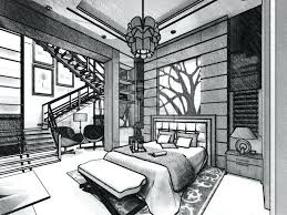 Bedroom Outline Bedroom Perspective Drawing Outline Sketch Drawing