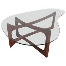 stunning adrian pearsall sculptural walnut kidney shaped dogbone coffee table for