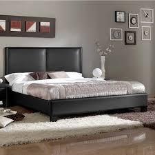 black modern platform bed. Contemporary Faux Leather Platform Bed By Baxton Studio Black Modern