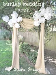 burlap wedding arch burlap projects