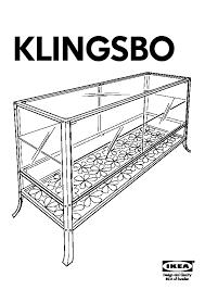 klingsbo glass door cabinet