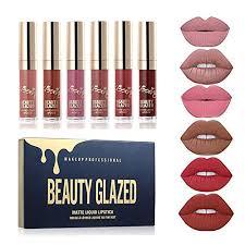 Sacha Matte Lipstick Chart Beauty Sexy 6pcs Matte Lip Gloss Sexy Liquid Lipstick Waterproof Long Lasting Moisturizer Professional Lips Balm Makeup