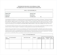 Performance Evaluation Template Annual Appraisal Sample