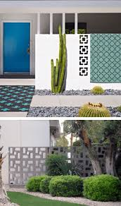 block tile walls also referred to as breeze blocks used on the