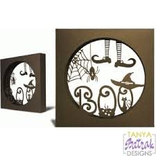 Lily's halloween decor svg bundle $6.99. Halloween Shadow Box Boo Svg File