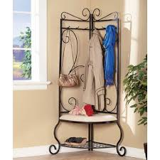 Corner Entry Bench Coat Rack Mesmerizing Amazing Design Of Corner Entryway Bench HomesFeed