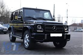 Imposing face of black mercedes g class enhanced with aftermarket. Front Bumper Skid Plate Off Road Matte Black Suitable For Mercedes W463 G Class 1989 2017 G65 Design Carpartstuning Com