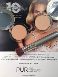 pur cosmetics 10th anniversary ltd edition 4 in 1 pressed powder mineral makeup in