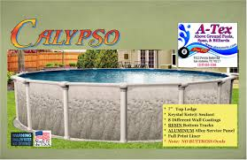 above ground pool brochures a tex above ground pools spas billiards