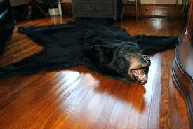 bear skin rug no head faux rugs white bearskin within perfect the is fashionable wooden houses