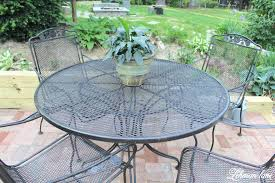 painting metal outdoor furniture spray paint patio furniture our vintage wrought iron patio set painting metal painting metal outdoor furniture