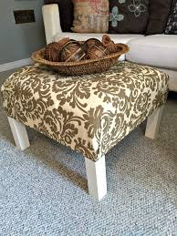 diy ottoman coffee table ikea how to turn a plain old end table into a