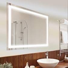 wall mounted led light up vanity mirror