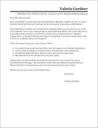 Free Sample Cover Letter For Retail Manager Cover Letter