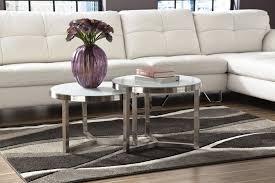 breathtaking designer round nesting marble coffee tables black