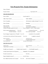 Tenant Information Form Sample Printable new propertynew tenant information Form Printable 1