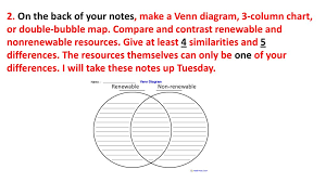Compare And Contrast Renewable And Nonrenewable Resources Venn Diagram Resource Depletion Means Using A Resource Faster Than It Can
