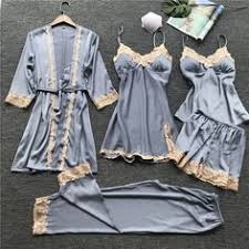 JULY'S SONG 2019 <b>Gold Velvet 4 Pieces</b> Warm Winter Pajamas ...