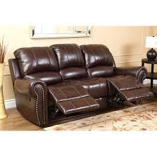 abbyson living hogan leather reclining 2 piece sofa set