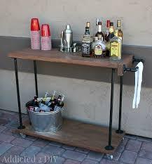 industrial furniture ideas. DIY Rustic Industrial Bar Cart - Addicted 2 Featured On Kenarry: Ideas  For The Industrial Furniture Ideas