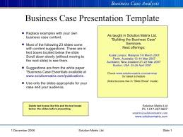 business case template ppt templates resume examples  business case example ppt