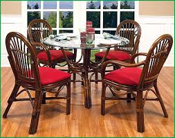 boca rattan amarillo rattan dining set 5 pieces 4 arm chairs round dining table
