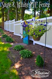 white fence ideas. New Fence Ideas. Sage And White Matte Finish PVC VInyl From Illusions Adds A Ideas