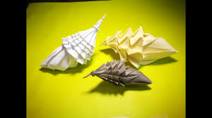 How to make an origami conch - YouTube