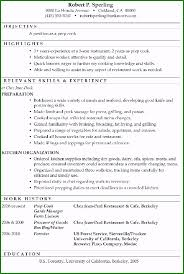 Restaurant Cook Resume Cook Resume Example 55 Things For 2019