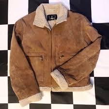 Utex Design Long Coat Womens Leather Sherpa Jacket By Utex Design Pass Depop