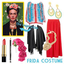 diy frida kahlo costume this costume seems fun to me not only because of all the bright colors and statement jewelry you could wear but because few other