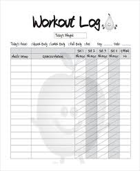 Blank Workout Logs 33 Sample Log Templates Pdf Doc