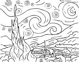 Small Picture coloring sheet of famous art designed by artist Coloring Point