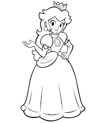 Free Princess Peach Coloring Pages For Kids Princess Peach Peach Coloriage Super Mario Et Peach L