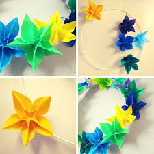 Paper Flower Origami How To Make A Wreath Using Origami Flowers