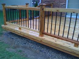 metal handrails for deck stairs. railing and baluster ideas ( deckorators). metal deck handrails for stairs l