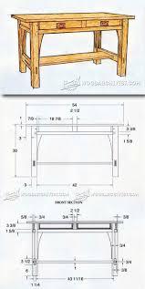 wood furniture blueprints. Library Table Plans - Furniture And Projects   WoodArchivist.com Wood Blueprints U