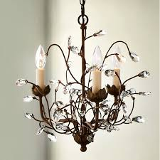 european vintage iron flower chandelier lamp home deco living room retro crystal tree e14 led bulb