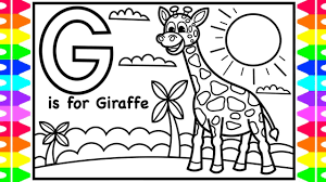 Watch this video as we color in different. Alphabet Abc Coloring Pages G Is For Giraffe Coloring Art Colors For Kids With Colored Markers Youtube