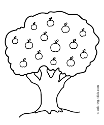 Nature Apple Tree Coloring Page For Kids Printable Free Free Simple Coloring Pages L