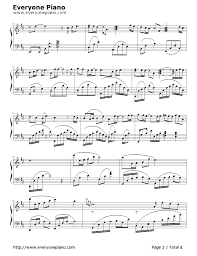 a thousand years piano sheet music after a thousand years stave preview 2 free piano sheet music